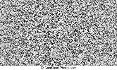 Television static background seamless loop