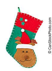 Christmas stocking. - Christmas stocking with deer on a...