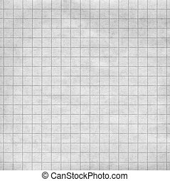 Cross-section paper - Blank sheet of a paper with a grey...