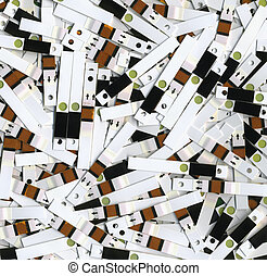 Spent test strips - Used test strips after the analysis of...