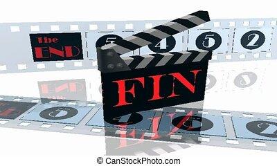 Clapboard filmstrips