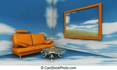Living room in the sky