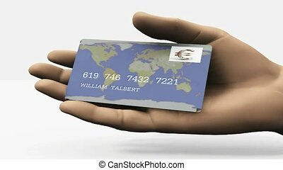 Euro credit card in hand