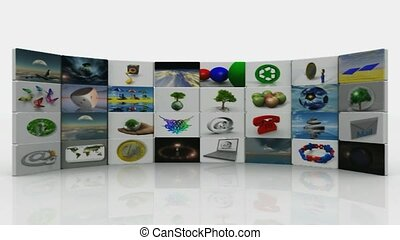 animated wall art sections
