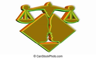 Lawyer symbol spinning