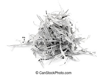 Shredded paper strips