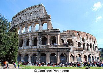 Rome - Colosseo - The Colosseum or Coliseum, originally the...