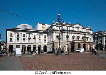 The Teatro alla Scala in Milan, Italy - La Scala Italian:...