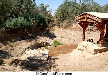 The Baptism Site Arabic: el-Maghtas on the Jordan side of...