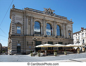 Montpellier, France - The Opra Com - Montpellier is a city...