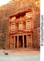 Petra, The Treasury - UNESCO world heritage site and one of...