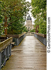 Saskatchewan Legislative Building - The deck leading to the...
