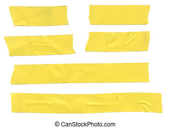 Yellow Tape - Strips of dirty yellow electrical tape....