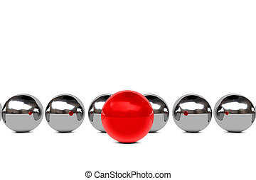 Leadership concept with spheres - Leadership concept with...