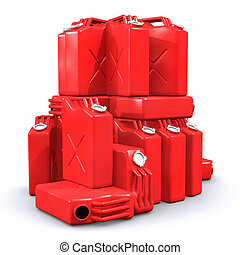 Pile of Gas Cans