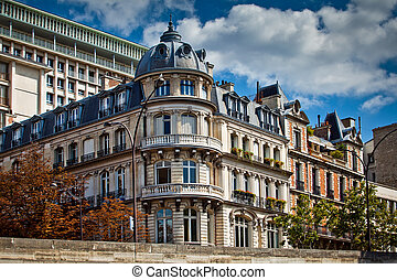 Typical french architecture facades, Paris