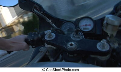 Motorcycle pov - I mounted my HVX200 on my motorcycle\'s...