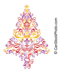pattern christmas tree