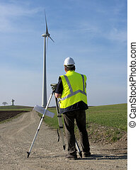 Worker foreman wind turbine