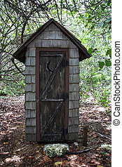 Old Outhouse - Cape Florida Light, Bill Baggs State Park,...
