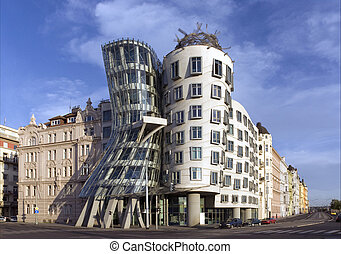 Prague - Dancing House - Prague - modern architecture of...