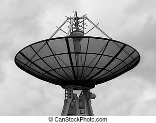 Satellite dish - The round satellite dishl against the...
