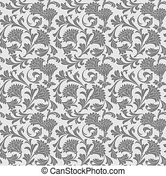 Antique wallpaper decor - Seamless antique wallpaper decor