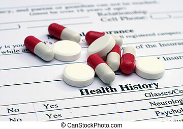 Health history and pills