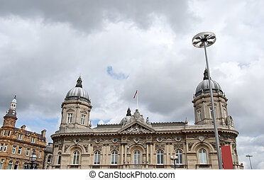 Twin Domed Victorian Civic Building - The Twin Domes of an...