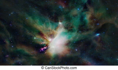 Zoom in to a dynamic nebula