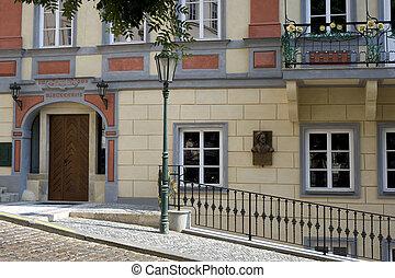 Prague - Historic house with sculpt