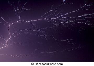 Lightning Flash - Awesome display of lighting branching and...