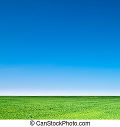 landscape - beautiful landscape, clean blue sky