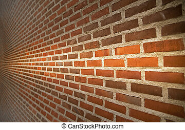 Close up of brick wall ending in infinity