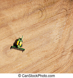 Harvest Field Patterns - Background texture pattern of a...