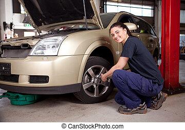 Samica, mechanik