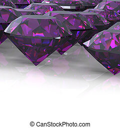 Diamond. Jewelry background - Ruby. Jewelry background