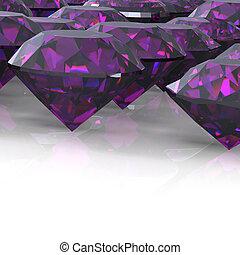 Diamond. Jewelry background - Ruby. Jewelry background