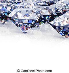 Diamond. Jewelry background - Round diamond. Jewelry...