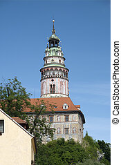 Castle at Cesky Krumlov - Historic town of Cesky Krumlov and...