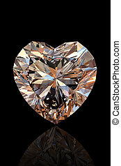 Brilliant shape of heart Cognac diamond - Brilliant shape of...