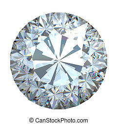 Diamond - Round brilliant cut diamond perspective isolated...