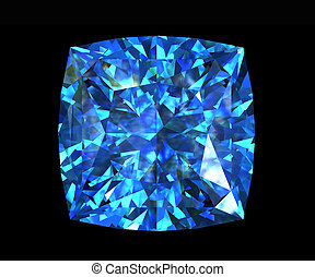Jewelry gems shape of square. Swiss blue topaz - Jewelry...