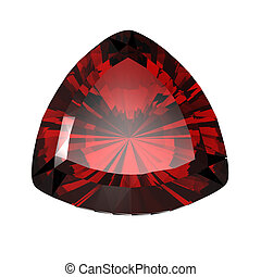 Jewelry gems shape of trillion. Ruby - Jewelry gems shape of...