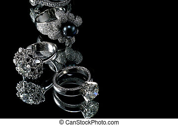 Collectionsof rings with diamond