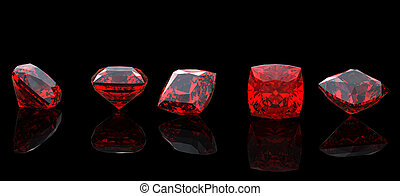 Jewelry gems shape of square. Ruby - Jewelry gems shape of...