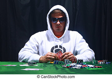 Cool poker player