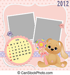 Baby's monthly calendar for 2012 - Baby's monthly calendar...