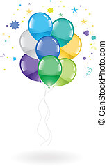 festive colorful balloons