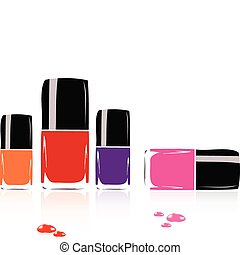 collection of nail polish - vector collection of nail polish